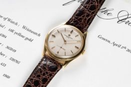A GENTLEMAN'S LARGE SIZE 18K SOLID GOLD VACHERON & CONSTANTIN WRIST WATCH DATED 1960, REF. 6304 WITH