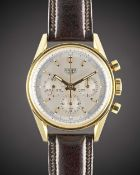 A GENTLEMAN'S 18K SOLID GOLD HEUER CLASSIC CARRERA CHRONOGRAPH WRIST WATCH CIRCA 2000, REF. CS3140