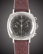 A GENTLEMAN'S STAINLESS STEEL HEUER CAMARO CHRONOGRAPH WRIST WATCH CIRCA 1960s, REF. 7220NT WITH