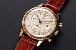 """A VERY RARE GENTLEMAN'S LARGE SIZE 14K SOLID GOLD UNIVERSAL GENEVE MEDICO COMPAX """"WATERPROOF"""""""