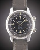 A GENTLEMAN'S STAINLESS STEEL ENICAR SHERPA SUPER DIVE WRIST WATCH CIRCA 1960s, REF. 144-35-02