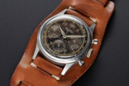 "A RARE GENTLEMAN'S LARGE SIZE STAINLESS STEEL BREITLING PREMIER ANTIMAGNETIC ""WATERPROOF"""