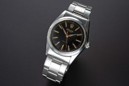 A RARE GENTLEMAN'S LARGE SIZE STAINLESS STEEL ROLEX OYSTER PRECISION BRACELET WATCH CIRCA 1957, REF.