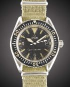 """A GENTLEMAN'S STAINLESS STEEL OMEGA SEAMASTER 300 """"BIG TRIANGLE"""" AUTOMATIC DATE WRIST WATCH CIRCA"""