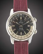 A GENTLEMAN'S STAINLESS STEEL ENICAR SHERPA SUPER JET WRIST WATCH CIRCA 1960s, REF. 146/003 WITH