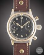 A RARE GENTLEMAN'S GERMAN MILITARY TUTIMA GLASHUTTE LUFTWAFFE PILOTS FLYBACK CHRONOGRAPH WRIST WATCH