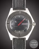 A RARE GENTLEMAN'S STAINLESS STEEL SANDOZ TYPHOON 1000M DIVERS WRIST WATCH CIRCA 1970, REF. 1745-Z-