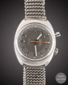 A GENTLEMAN'S STAINLESS STEEL OMEGA CHRONOSTOP DRIVERS BRACELET WATCH DATED 1969, REF. 145.010