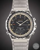 A GENTLEMAN'S STAINLESS STEEL IRAQI MILITARY AIR FORCE BREITLING JUPITER NAVITIMER QUARTZ 3300
