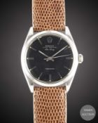 A GENTLEMAN'S STAINLESS STEEL ROLEX OYSTER PERPETUAL AIR KING PRECISION WRIST WATCH CIRCA 1965, REF.