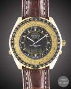 A GENTLEMAN'S GOLD PLATED MILITARYBREITLINGNAVITIMER QUARTZ 2300 PILOTS WRIST WATCH CIRCA 1980s,