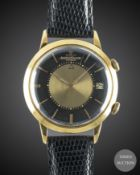 A GENTLEMAN'S 18K SOLID GOLD JAEGER LECOULTRE MEMOVOX AUTOMATIC ALARM WRIST WATCH CIRCA 1960