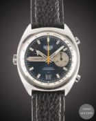 A GENTLEMAN'S STAINLESS STEEL HEUER CARRERA AUTOMATIC CHRONOGRAPH WRIST WATCH CIRCA 1972, REF. 1553