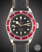 "A GENTLEMAN'S STAINLESS STEEL ROLEX TUDOR BLACK BAY ""RED"" SELF WINDING WRIST WATCH DATED 2015,"