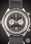 A GENTLEMAN'S STAINLESS STEEL IRAQI MILITARY AIR FORCE BREITLING AUTOMATIC NAVITIMER PILOTS