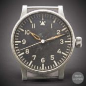 "A GERMAN MILITARY LUFTWAFFE B.UHR BERNA ""BIG PILOT"" NAVIGATORS OBSERVATION WATCH CIRCA 1940s, REF."