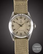 A GENTLEMAN'S STAINLESS STEEL ROLEX TUDOR OYSTER ROYAL WRIST WATCH CIRCA 1958, REF. 7934 WITH