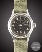 A GENTLEMAN'S STAINLESS STEEL BRITISH MILITARY HAMILTON RAF PILOTS WRIST WATCH CIRCA 1960s, WITH ""
