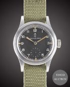 "A GENTLEMAN'S BRITISH MILITARY RECORD W.W.W. WRIST WATCH CIRCA 1940s, PART OF THE ""DIRTY DOZEN"","