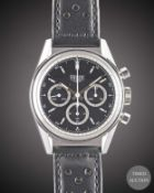 A GENTLEMAN'S STAINLESS STEEL HEUER CLASSIC CARRERA CHRONOGRAPH WRIST WATCH DATED 2000, REF.