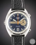 A GENTLEMAN'S STAINLESS STEEL HEUER CARRERA AUTOMATIC CHRONOGRAPH WRIST WATCH CIRCA 1972, REF.