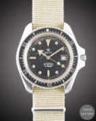 A GENTLEMAN'S STAINLESS STEEL AIRIN 300M AUTOMATIC DIVERS WRIST WATCH CIRCA 1980, REF. 503.305