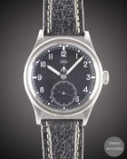 A GENTLEMAN'S STAINLESS STEEL BRITISH MILITARY IWC MARK 10 W.W.W. WRIST WATCH CIRCA 1940s, PART OF