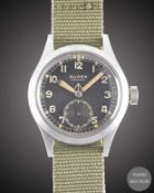 "A GENTLEMAN'S BRITISH MILITARY BUREN GRAND PRIX W.W.W. WRIST WATCH CIRCA 1945, PART OF THE ""DIRTY"
