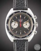A GENTLEMAN'S STAINLESS STEEL HEUER AUTAVIA CHRONOGRAPH WRIST WATCH CIRCA 1970s, REF. 73363