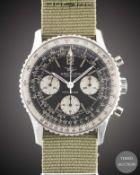 A GENTLEMAN'S STAINLESS STEEL BREITLING NAVITIMER CHRONOGRAPH WRIST WATCH CIRCA 1966, REF. 806