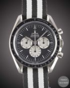 "A GENTLEMAN'S UNWORN STAINLESS STEEL OMEGA SPEEDMASTER PROFESSIONAL ""TRIBUTE TO ALASKA PROJECT"