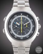 A GENTLEMAN'S STAINLESS STEEL OMEGA FLIGHTMASTER CHRONOGRAPH BRACELET WATCH CIRCA 1975, REF. 145.026