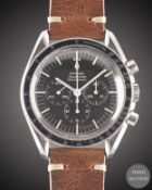 "A GENTLEMAN'S STAINLESS STEEL OMEGA SPEEDMASTER PROFESSIONAL ""PRE MOON"" CHRONOGRAPH WRIST WATCH"