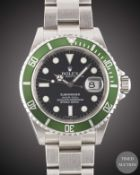 "A GENTLEMAN'S STAINLESS STEEL ROLEX OYSTER PERPETUAL DATE ""ANNIVERSARY"" SUBMARINER BRACELET WATCH"