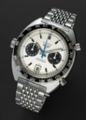"A GENTLEMAN'S STAINLESS STEEL HEUER AUTAVIA ""JO SIFFERT"" AUTOMATIC CHRONOGRAPH BRACELET WATCH"