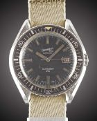 A RARE GENTLEMAN'S STAINLESS STEEL EBERHARD & CO SCAFOGRAF 300 AUTOMATIC DIVERS WRIST WATCH CIRCA