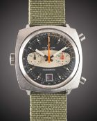A GENTLEMAN'S STAINLESS STEEL BREITLING CHRONOMATIC CHRONOGRAPH WRIST WATCH CIRCA 1969, REF. 2111