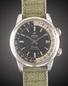A GENTLEMAN'S STAINLESS STEEL ENICAR SHERPA SUPER JET GMT WRIST WATCH CIRCA 1960s, REF. 146/003 WITH