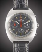"A GENTLEMAN'S STAINLESS STEEL BREITLING GENEVE ""LONG PLAYING"" CHRONOGRAPH WRIST WATCH CIRCA 1973,"