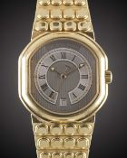 A FINE GENTLEMAN'S 18K SOLID YELLOW GOLD DANIEL ROTH LE SENTIER AUTOMATIC BRACELET WATCH CIRCA 2000,