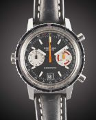 A GENTLEMAN'S STAINLESS STEEL BREITLING CHRONOMATIC CHRONOGRAPH WRIST WATCH CIRCA 1969, REF. 2110