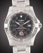 A GENTLEMAN'S UNWORN STAINLESS STEEL BREITLING AVENGER II GMT BRACELET WATCH DATED 2018, REF.