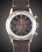 "A GENTLEMAN'S STAINLESS STEEL REGINES ""SHERPA GRAPH"" CHRONOGRAPH WRIST WATCH CIRCA 1970, WITH"
