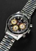 A GENTLEMAN'S STAINLESS STEEL FORTIS MARINEMASTER DIVERS CHRONOGRAPH BRACELET WATCH CIRCA 1970, REF.