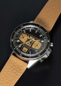"A RARE GENTLEMAN'S STAINLESS STEEL YEMA RALLYE ""BROWN SUGAR"" CHRONOGRAPH WRIST WATCH CIRCA 1970"