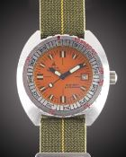 "A GENTLEMAN'S STAINLESS STEEL DOXA ""ORANGE"" SUB 300T PROFESSIONAL DIVERS WRIST WATCH CIRCA 1970s"