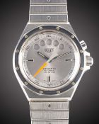 A GENTLEMAN'S STAINLESS STEEL HEUER REGATTA AUTOMATIC YACHTING BRACELET WATCH CIRCA 1983, REF. 134.