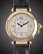"A GENTLEMAN'S LARGE SIZE 18K SOLID GOLD CARTIER PASHA XL ""JUMBO"" AUTOMATIC WRIST WATCH CIRCA"