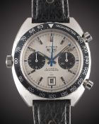 "A GENTLEMAN'S STAINLESS STEEL HEUER AUTAVIA ""JO SIFFERT"" AUTOMATIC CHRONOGRAPH WRIST WATCH CIRCA"
