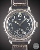 A GENTLEMAN'S STAINLESS STEEL IWC PILOT FLIEGERUHR WRIST WATCH CIRCA 2008, REF. IW325401 PART OF THE